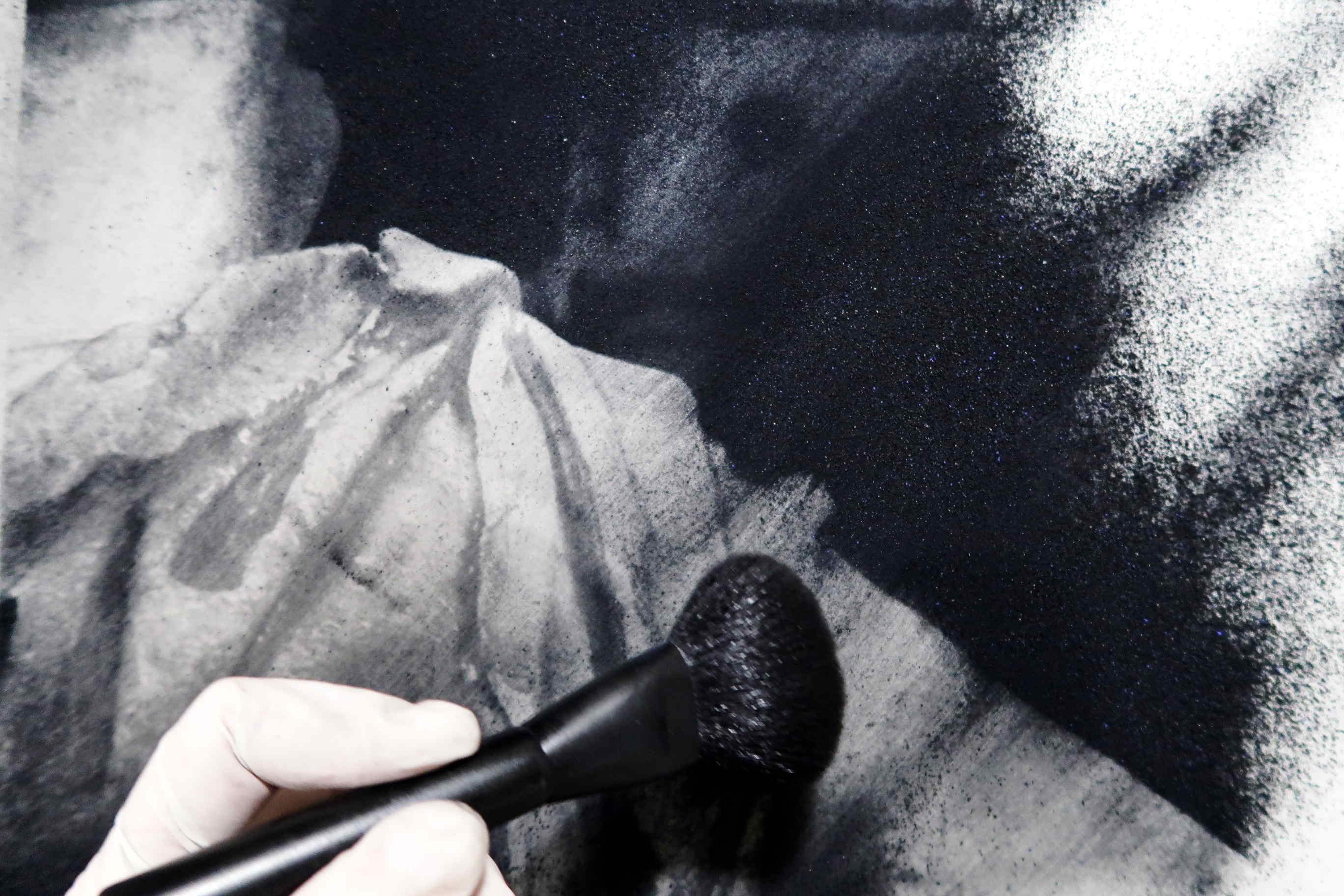 Arte del levare in una foto d'arte di scultura romana.