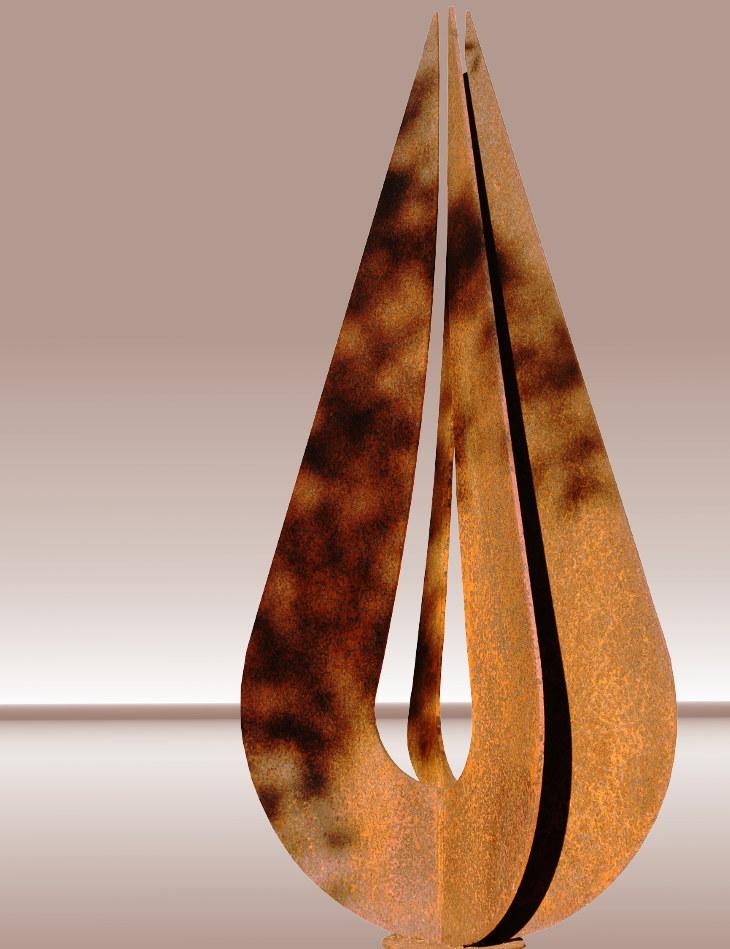 scultura in acciaio