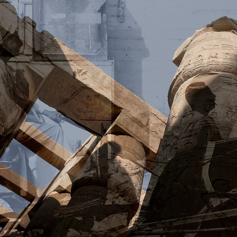 Trip to the temple. Photo art by Paolo Grassi. Egitto