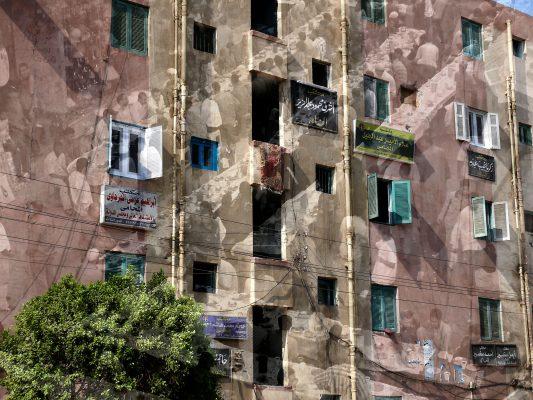 Stampa cromogenica. Buffet. Una fotografia d'arte di Paolo Grassi ripresa in Egitto. Doppia esposizione