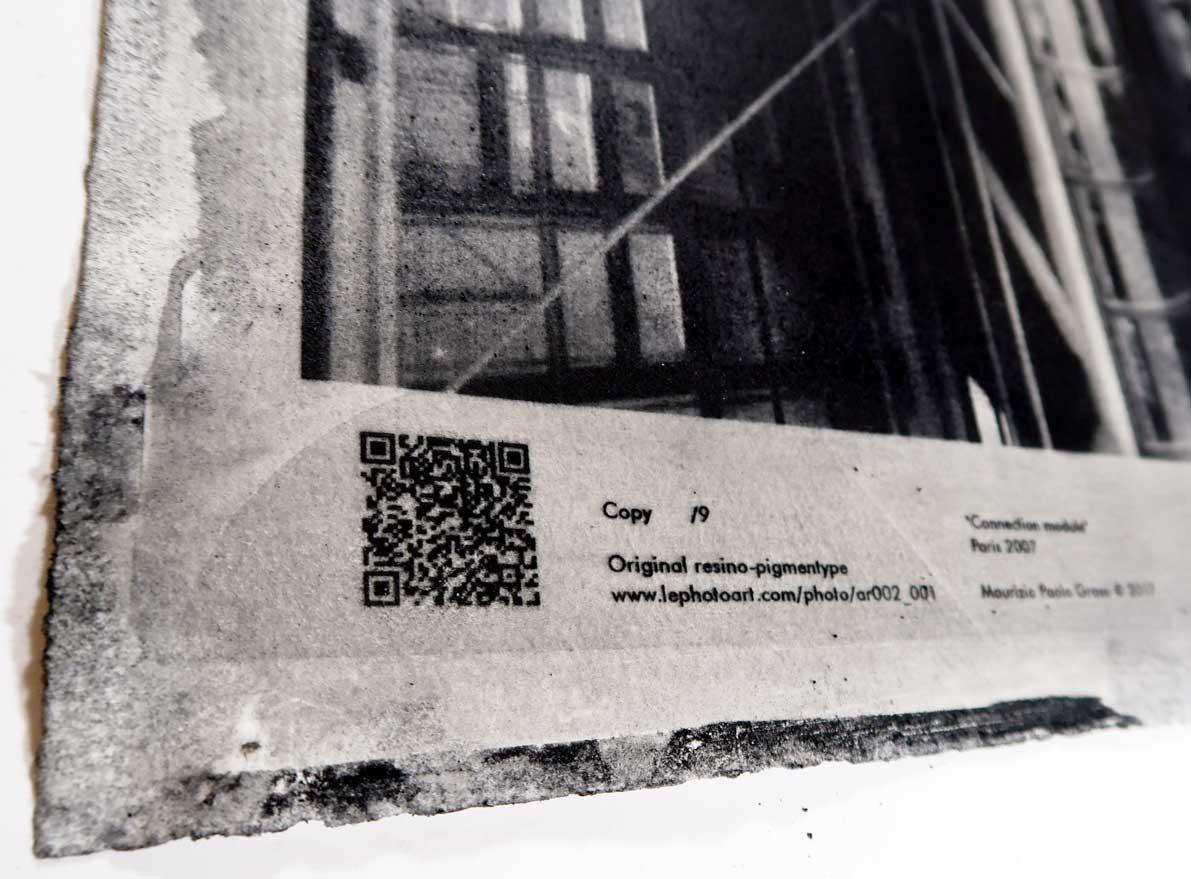 Dettaglio certificazione LE Strip della Photo Beaubourg