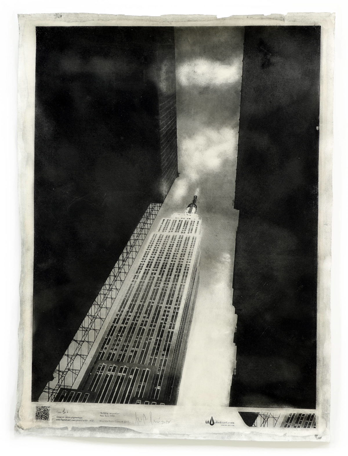 Empire state building. Art photo New York.