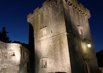 Castello di San Terenzo, Lerici. Vista notturna