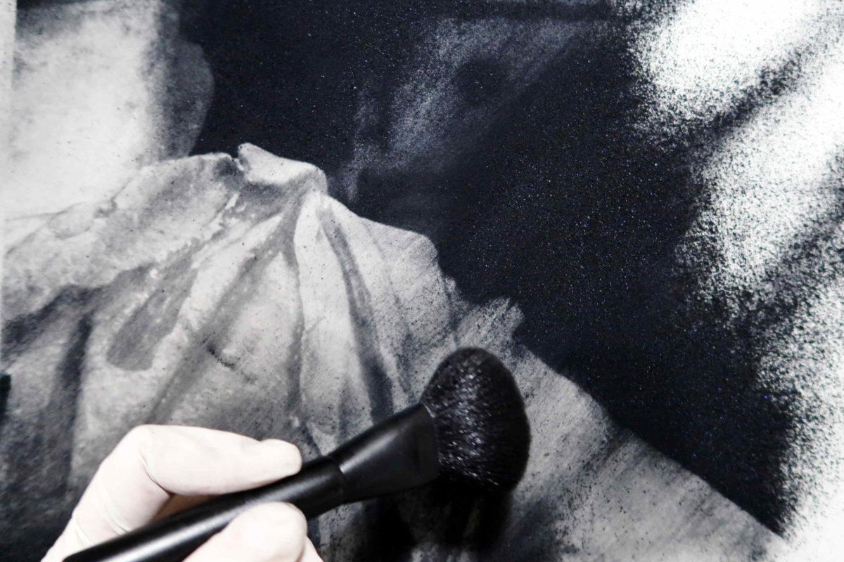 Arte del levare. Il pigmento in polvere
