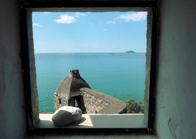 San Terenzo Castello. Foto arte a mare. La Spezia - Lerici