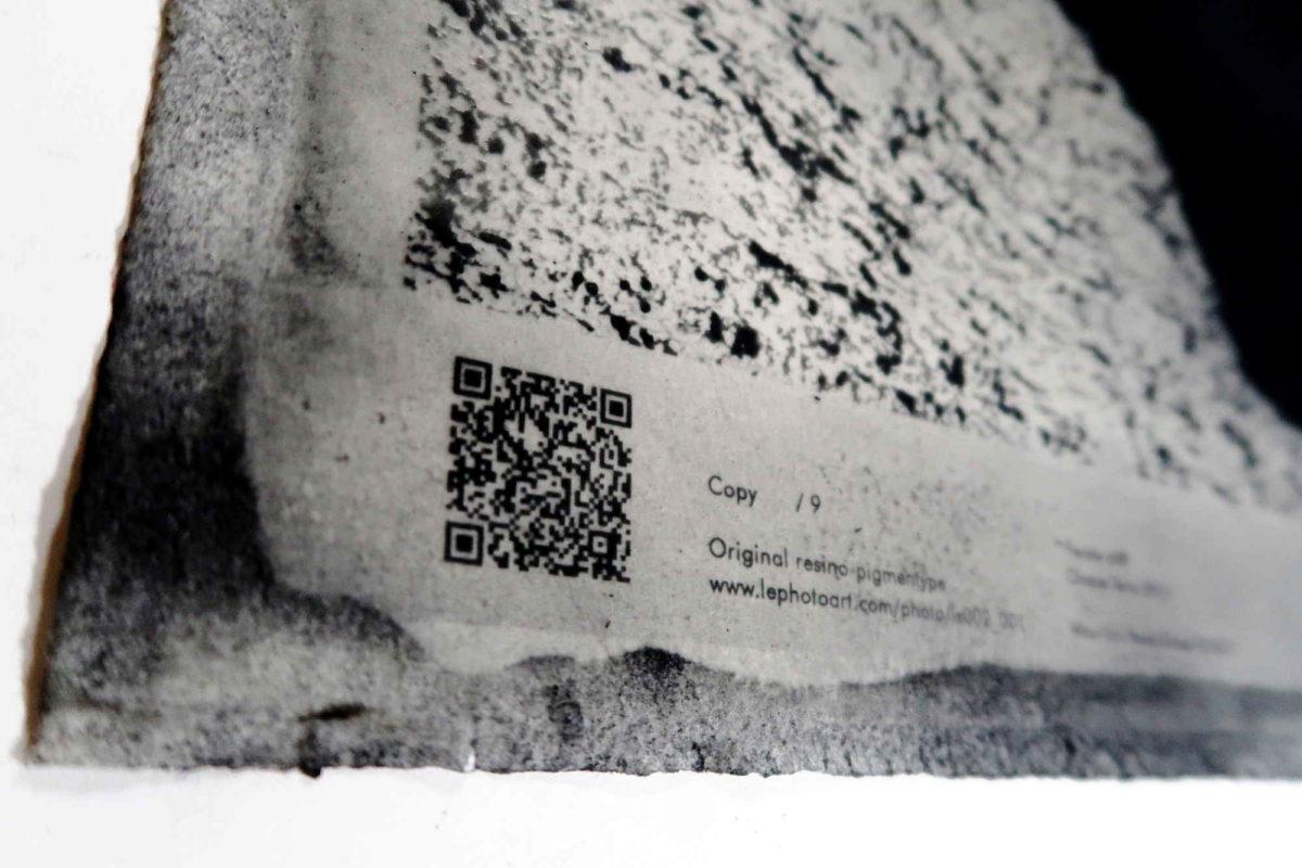 Cinque terre art photography. Detail QR code.